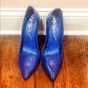 Alice + Olivia Blue Makayla Pumps